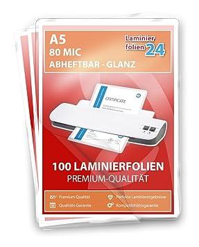 154x216 mm matt 2x125 mic Laminierfolien 100 Stück Laminiertaschen DIN A5