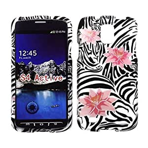2D Pink Lotus Samsung Galaxy S IV, 4 Active/i537 AT&T Case Cover Phone Snap on Cover Case Protector Rubberized Frosted Matte Surface Hard Shells