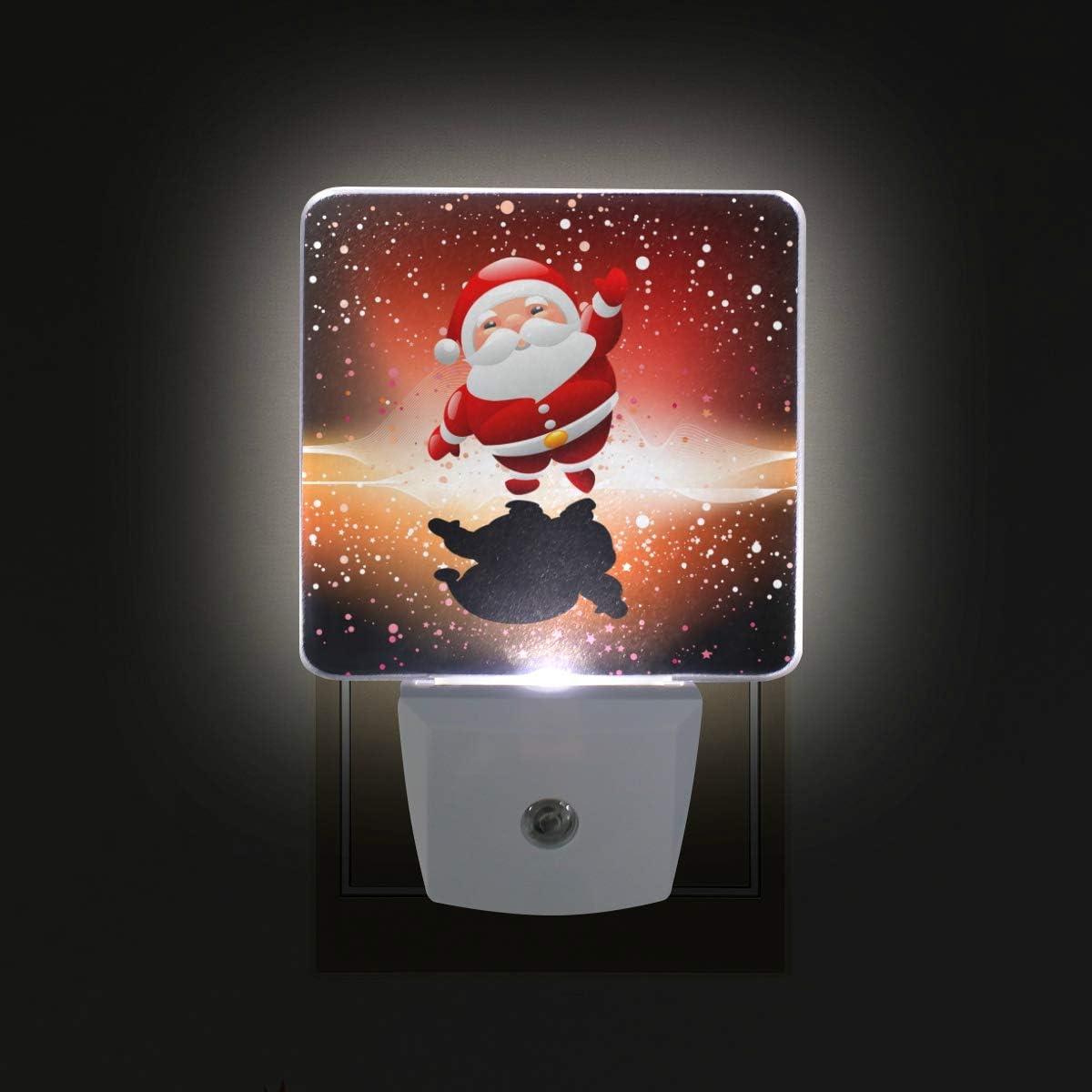 Ahomy - Luz LED de noche con diseño de Papá Noel y atardecer al amanecer, lámpara de enchufe para habitación de bebé o adulto, 2 unidades: Amazon.es: Iluminación