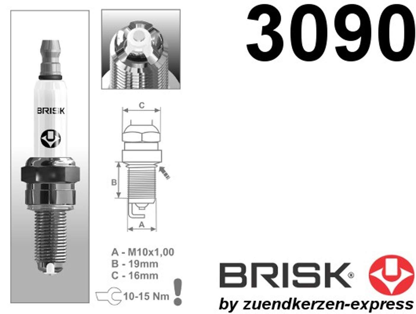 Unbekannt BRISK Premium Racing AOR14LGS 3090 Candele daccensione set di 2