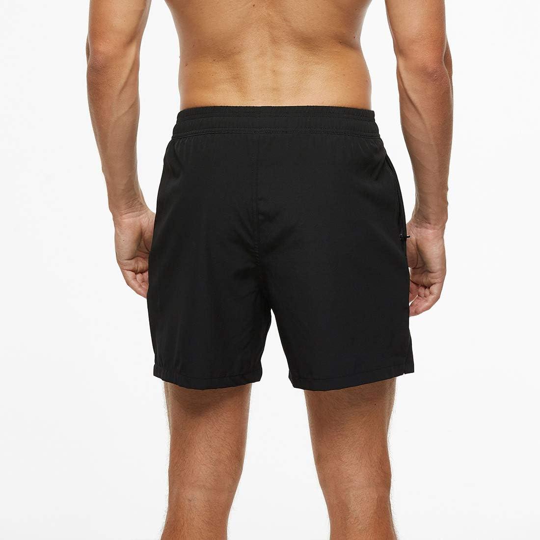 FEOYA Mens Quick Dry Swim Shorts with Mesh Ling Zipper Pockets for Surfing Beach Sun Bathing US XS-US XL