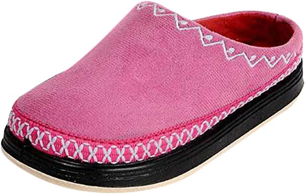 Oncefirst Kids Cozy House Slipper Non Slip Shoes with Adjustable Hook and Loop