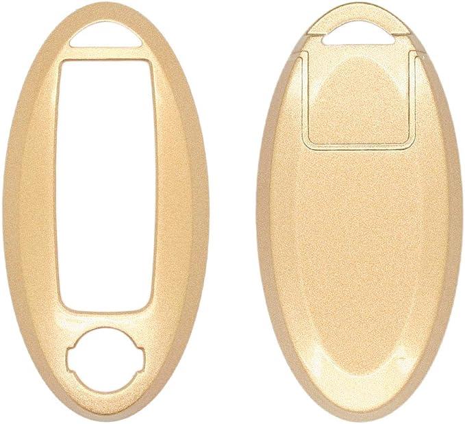 SEGADEN Paint Metallic Color Shell Cover Hard Case Holder fit for NISSAN Smart Remote Key Fob SV0500 Gold