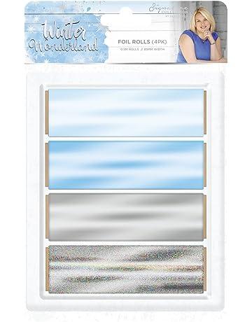 SuPVOX Bastelfolie gl/änzende Folie N/ägel f/ür Schleim Gem/älde 50 St/ück 8.5 x 8 x 0.01cm blau Kunstfolie 8 x 8,5 cm Dekoration