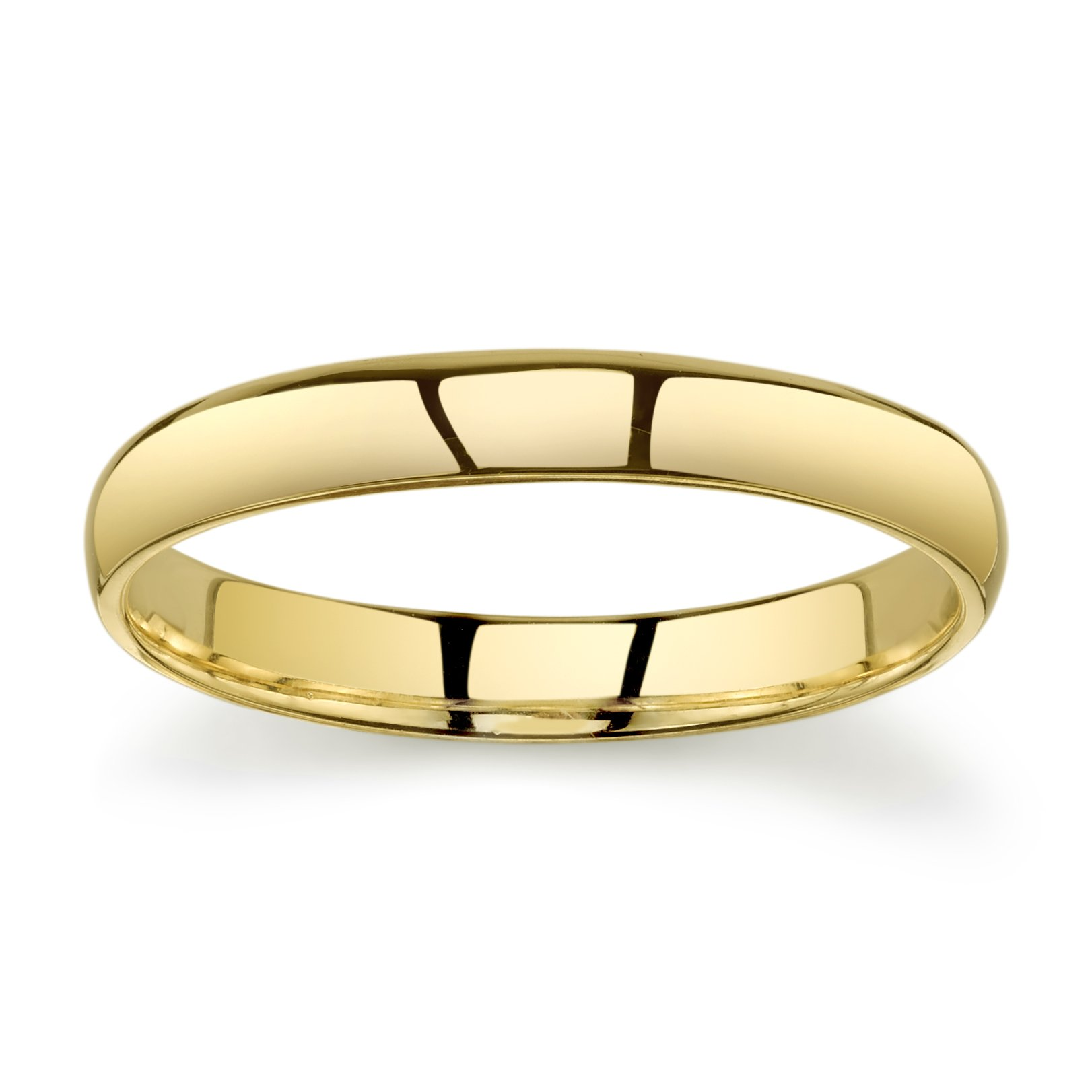 10k Yellow Gold Light Comfort Fit 3mm Wedding Band Size 9.5 by Tesori & Co (Image #3)