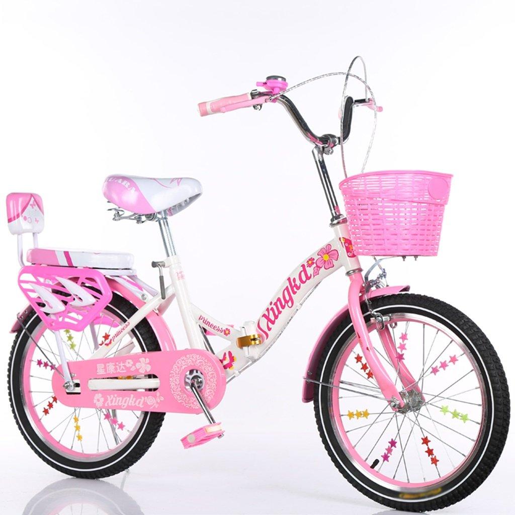 CSQ 子供の折りたたみ自転車、男の子、女の子学生バスケット後部座席高炭素鋼ボディ丈夫で安全な子供用5-13 115-128CM 子供用自転車 (色 : B, サイズ さいず : 121CM) B07DWN3QJ1 121CM|B B 121CM