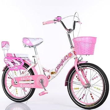 Bicicletas plegables para niños, niños y niñas Cesta para estudiantes Asiento trasero Cuerpo de acero