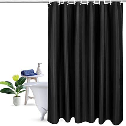 UFRIDAY Solid Color Fabric Shower Curtain Water Soap And Mildew Resistant Heavy Duty Bath