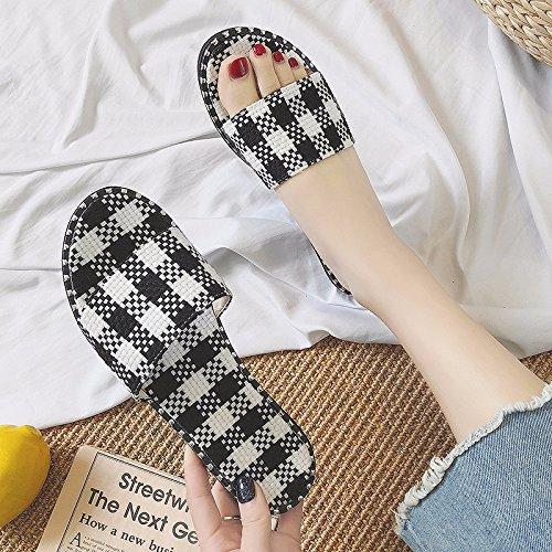 zapatillas desgaste deslizamiento Negro zapatillas playa verano anti nuevo XIAOGEGE fresco de casual de taB8qpTpw