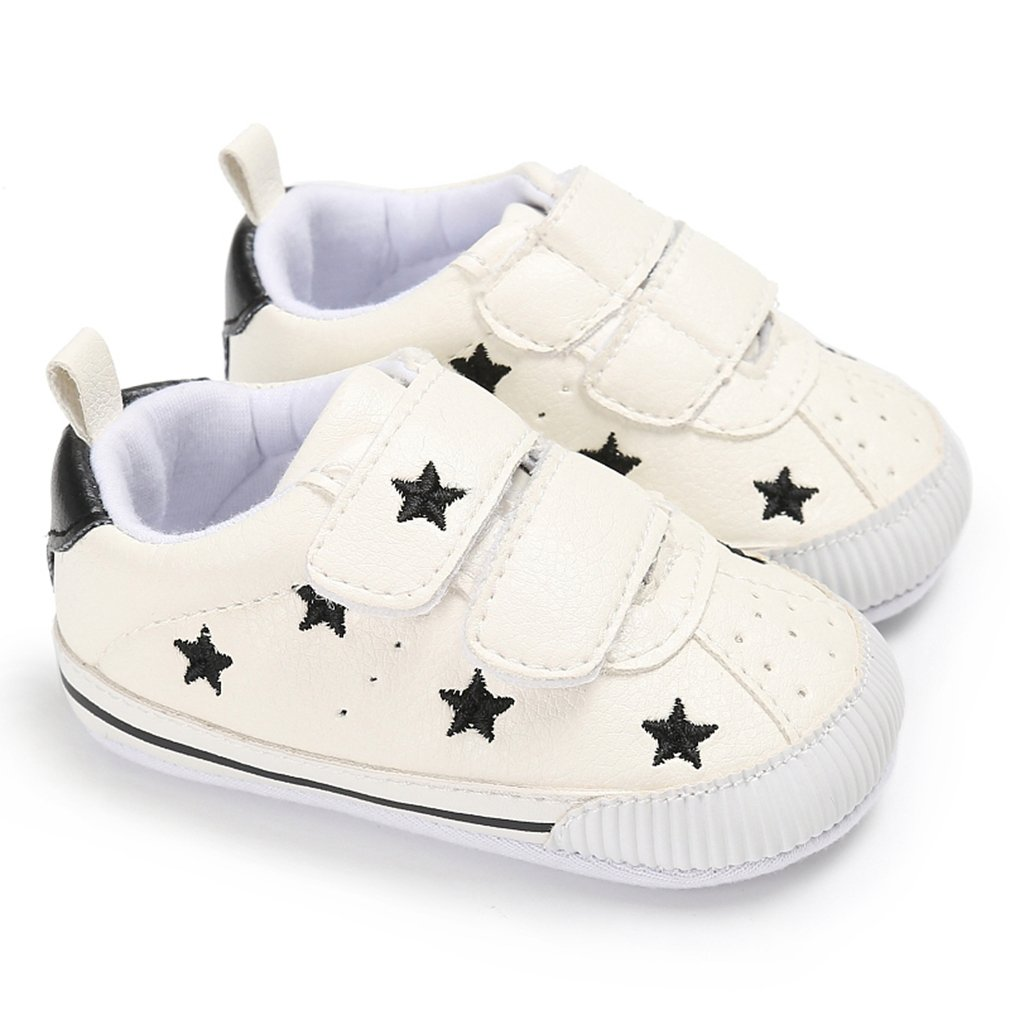 Royal Victory Toddler Baby Boys Girls Shoes 0-18 Months Slip-on PU Leather Crib Shoes Infant Walkers-by RVROVIC