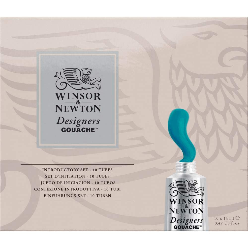 Winsor & Newton Designers' Gouache Introductory 10-Tube Paint Set, 14ml by Winsor & Newton