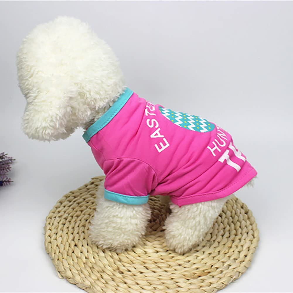Pet Clothes For Girls Boys Easter Dog Clothing Polyester T shirt Puppy Costume For Small Dog Clothes Apparels Costume for Small Dogs Cute Pet Dog Cat Vest Clothing Small Puppy Costume L, Gray