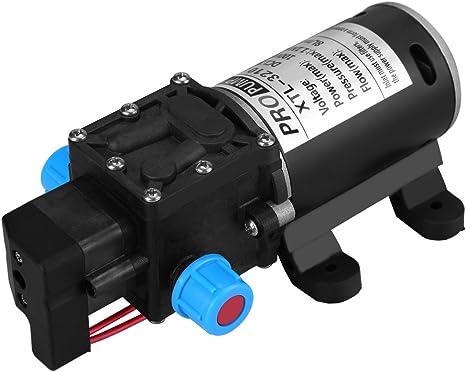Keenso - Bomba de Agua de 12 V CC con diafragma, autocebado, 100 W ...