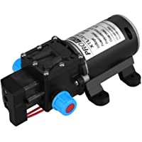 Keenso - Bomba de Agua de 12 V CC con diafragma, autocebado, 100 W, 8 L/min, 160 PSI, válvula Inteligente de Alta…