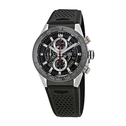 TAG Heuer Carrera Reloj de hombre automático 43mm CAR201V.FT6046: Amazon.es: Relojes