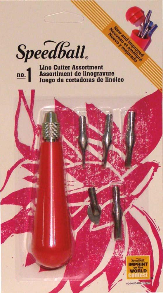 Speedball 041231 Linoleum Cutter Set (6 Piece), Multicolor by Speedball