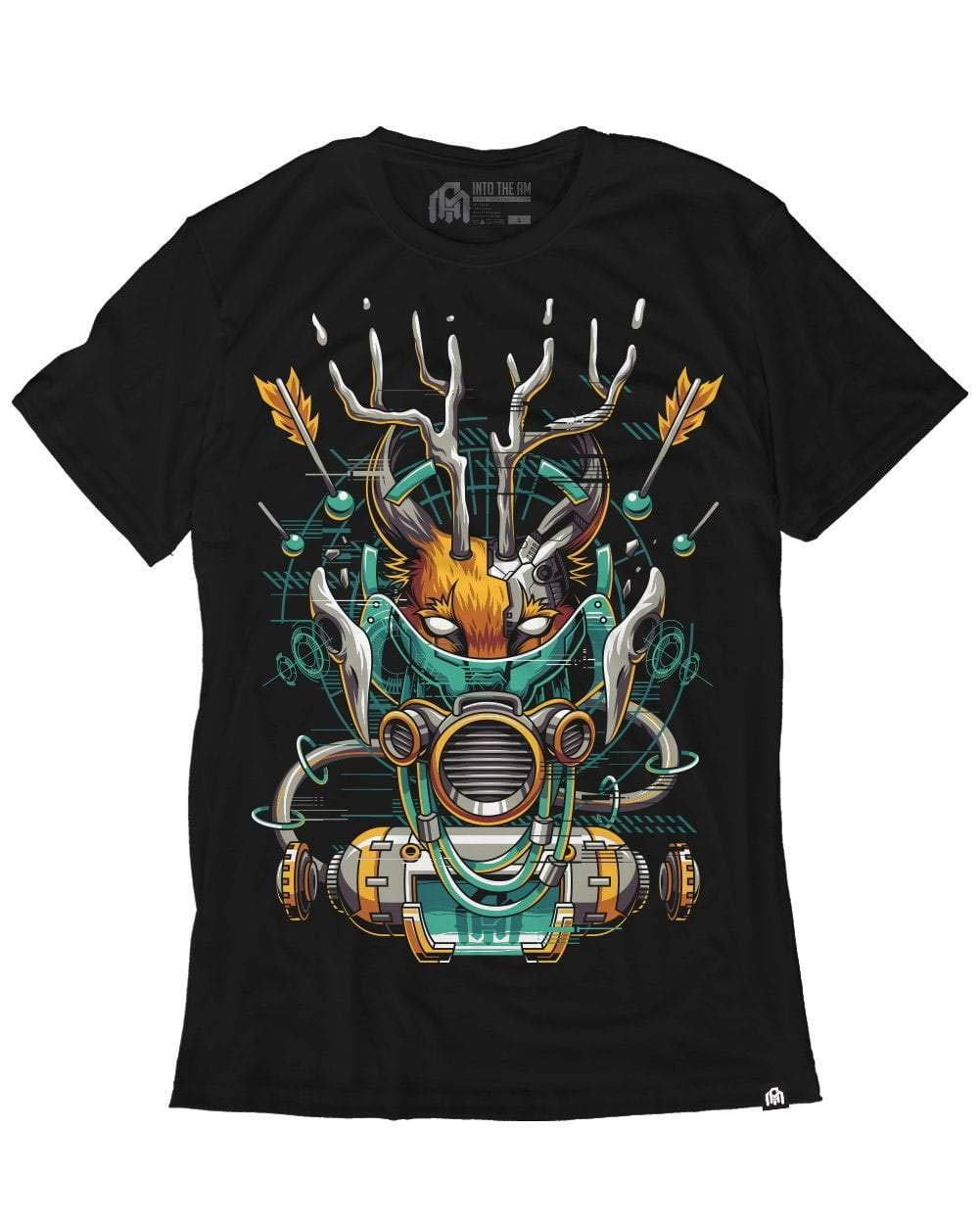 INTO THE AM Caracal Men's Graphic Tee Shirt (Small)