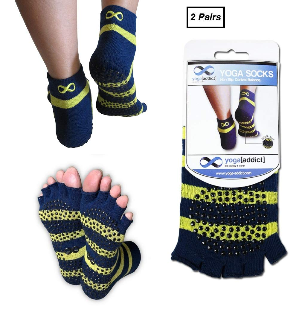 Calcetines sin dedos YogaAddict para yoga, pilates, danza ...