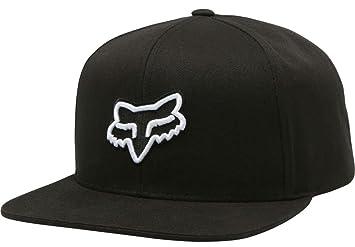 93e695a42c9 Fox Legacy Cap - Black Snapback Snap Back Sunny Sun Blocker Visor Baseball  Hat Headwear