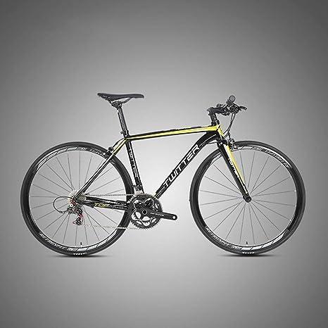 MICAKO Bicicleta de Aleación de Aluminio, Bicicleta de Carretera 700C de Aleación de Aluminio con Sistema de Cambio RETROSPEC-22 Velocidad, neumáticos 46-52cm y Freno,Amarillo,52cm: Amazon.es: Deportes y aire libre