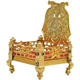 Lashiket Handicrafts Singhasan for Laddu Gopal | Krishna, Thakur Ji Golden Brass Singhasan | 2x5 Inch 4x5 inch