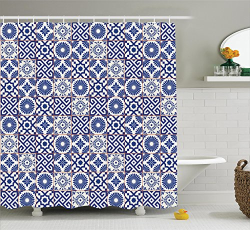 Ambesonne Moroccan Shower Curtain, Old Ottoman Style Inspire