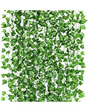 Fake Vines,18 Pack 136Ft Artificial Ivy , Artificial Vines for Room Decor, Faux Ivy Garland for Party Garden Office Wedding Decor