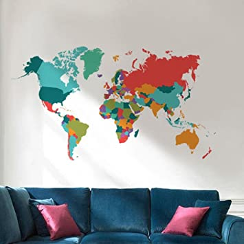 Mango king 1pc world map color world map popular map home decor mango king 1pc world map color world map popular map home decor decoration color world international gumiabroncs Image collections