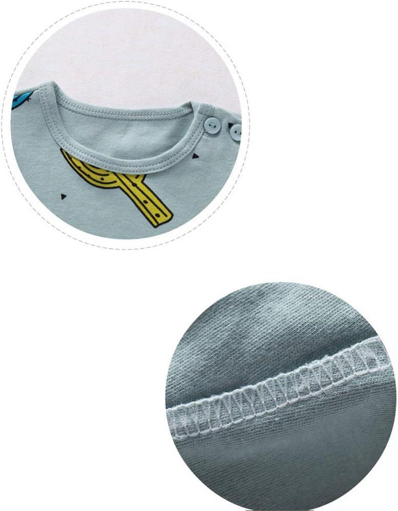 WGXQY Body per Bambini del Fumetto 0~12 Mesi Bambino Design Antivento e Design a Doppio Cavallo pu/ò Essere Indossato da Uomini e Donne