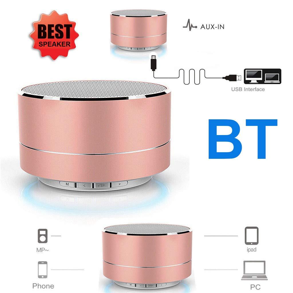 MerryDate Enceinte Bluetooth avec USB Micro et Basses Renforc/ées Noir Haut-Parleur Bluetooth sans Fil Portable,Mini Enceinte Bluetooth Portable,Port/ée Bluetooth de 10 M/ètres