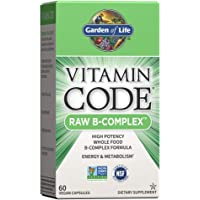 Garden of Life Vitamin B Complex - Vitamin Code Raw B Complex - 60 Vegan Capsules, High Potency B Complex Vitamins for…