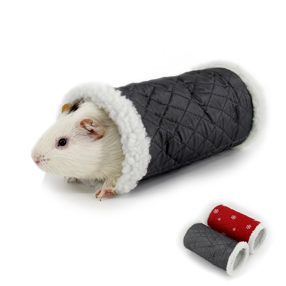 MYIDEA Small Pet Tunnel for Hamster – Pet Play Tunnel for Hedgehog Guinea-Pig Gerbils Rabbits Hedgehog Warm Sleeping Bed Pet Toys 9.84x5.9x5.9 (Gray - Single Tunnel)