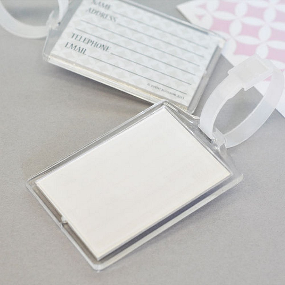 Blank Acrylic Luggage Tags - Pack of 36 by E&B