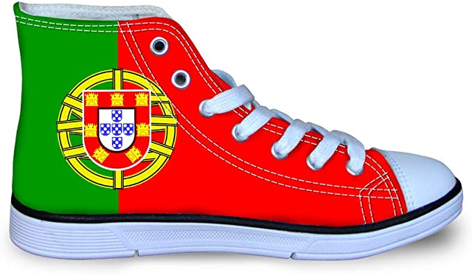Canvas High Top Sneaker Casual Skate Shoe Boys Girls Maryland Flag