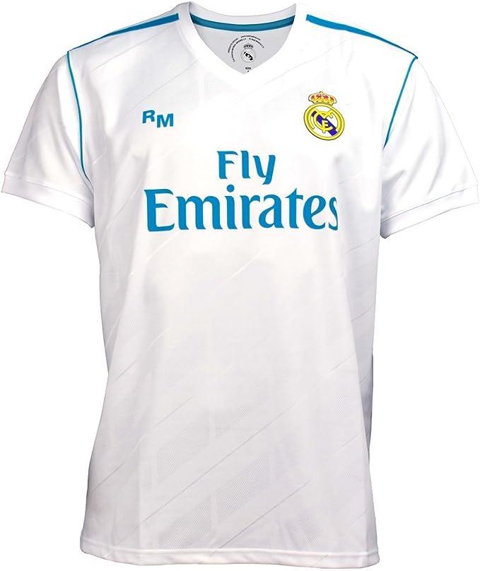 Camiseta Real Madrid oficial junior primera equipación [AB3899]: Amazon.es: Deportes y aire libre