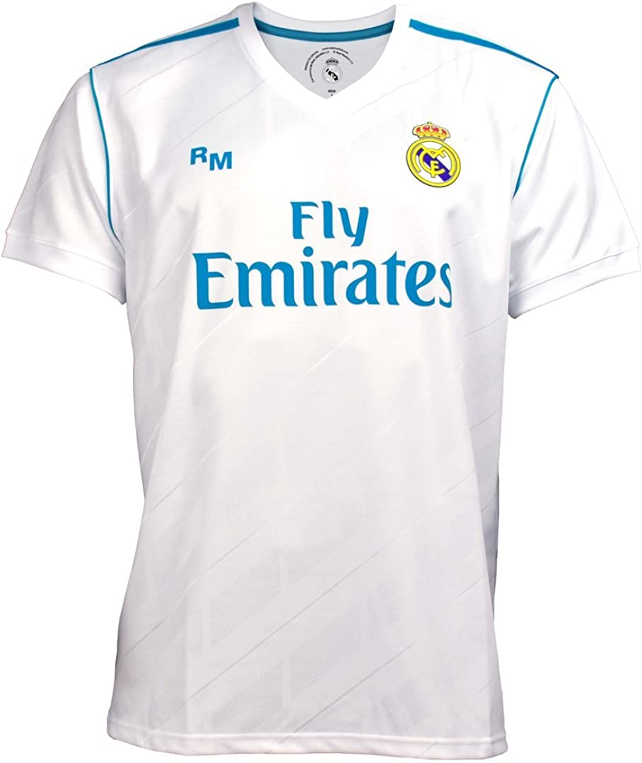 Real Madrid Shirt Junior Official First Kit Ab3899 Amazon Co Uk Clothing