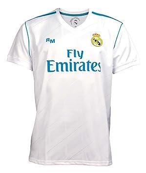 Rogers Camiseta Real Madrid réplica Oficial Adulto Primera equipación [AB3898]: Amazon.es: Deportes y aire libre