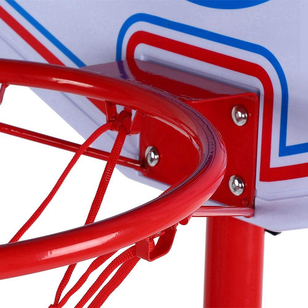 2.7M Soporte de aro de baloncesto al aire libre Tableros port/átiles de baloncesto Sistema de aro de baloncesto ajustable Soporte de tablero de entrenamiento para ni/ños