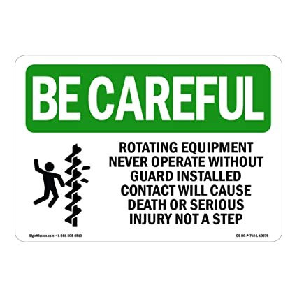 Osha Be - Cartel con texto en inglés «Careful Signe», equipo ...