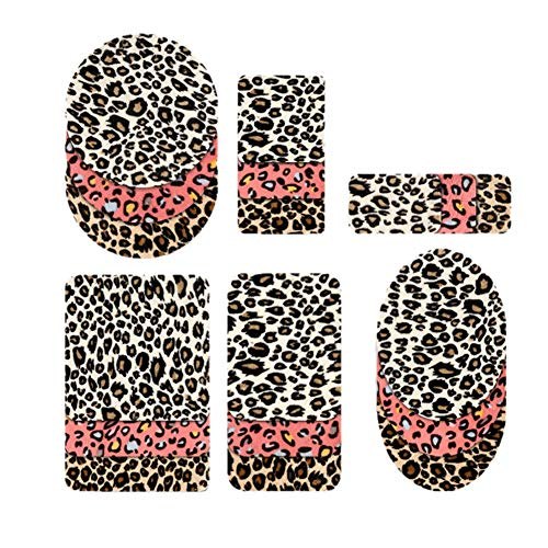 Hwafan 18PCS Iron On Leopard Print Knee Patches Fabric DIY Clothing Jeans Jackets Bags Repair Kit