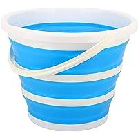 Housolution 10L Cubo de Agua Plegable de Material Ecológico PP para Fregar, Portátil Contenedor de Agua para Senderismo…