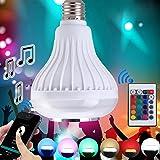 超省エネ多彩音楽ランプ スマートLED音楽電球 12 W省エネ カラフル  リモコン付く  ワイヤレス10M  Bluetooth4.0 電球 明暗,多彩な光のパターン切り替え  包装付く