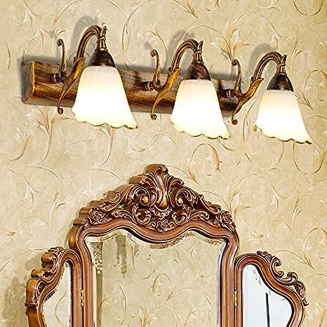 Décoration de la maison Abats-Jour TXD Haute qualit¨¦ lampes murales minimalistes miroir voyants imperm¨¦able ¨¤ l¡¯eau antibu¨¦e cuivre antique lumi¨¨res de miroir de salle de bains appliques antiques lampe miroir chambre
