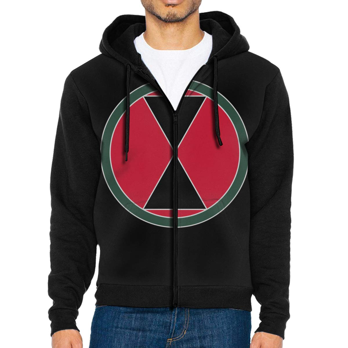 7th Infantry Division Mens Full-Zip Up Hoodie Jacket Pullover Sweatshirt