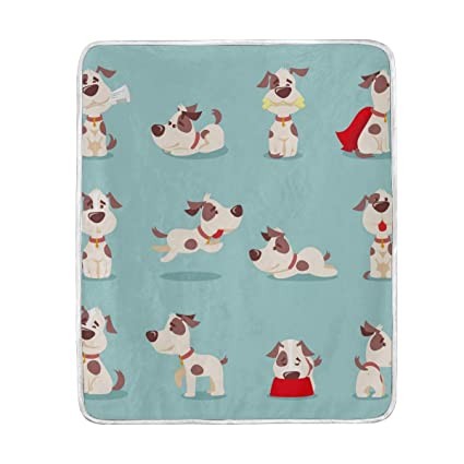 Amazon.com  Fun Cute Dog Throw Blanket for Bed Couch Chair Sofa ... 85252240fd