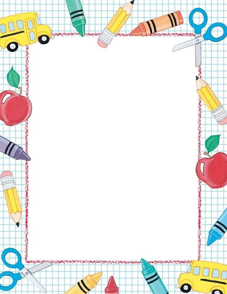 "Great Papers! School Stuff Letterhead, 80 Count, 8.5""x11"" (2013195)"