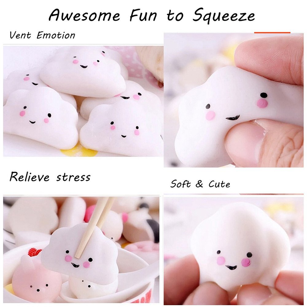 Denshine Squishies, Squishies Toys Squishies Slow Rising kawaii Toys Cheap Squishies Stress Reliever Super Soft Squishy Animal Educational Toys Best Party Favors Stocking Stuffers(11 pcs)