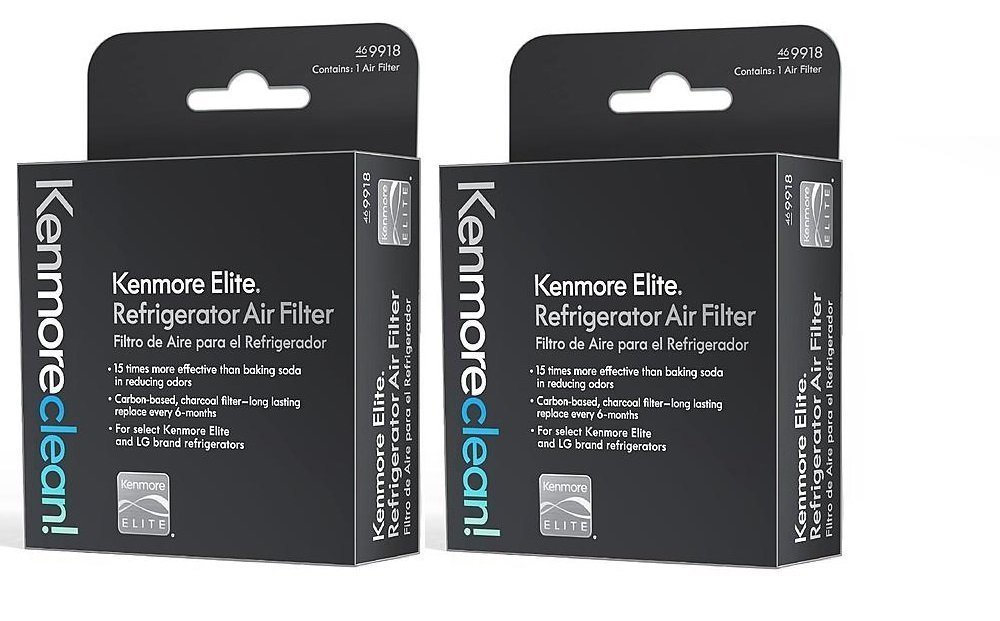 kenmore 469081. kenmore elite 469918 refrigerator air filter, 2 pack 469081 t