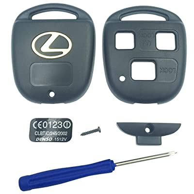 Replacement Keyless Entry Remote Control Key Case Fit for Lexus ES GS GX IS LS LX RX SC Key Fob Cover Case Without Blade (1PCS): Automotive