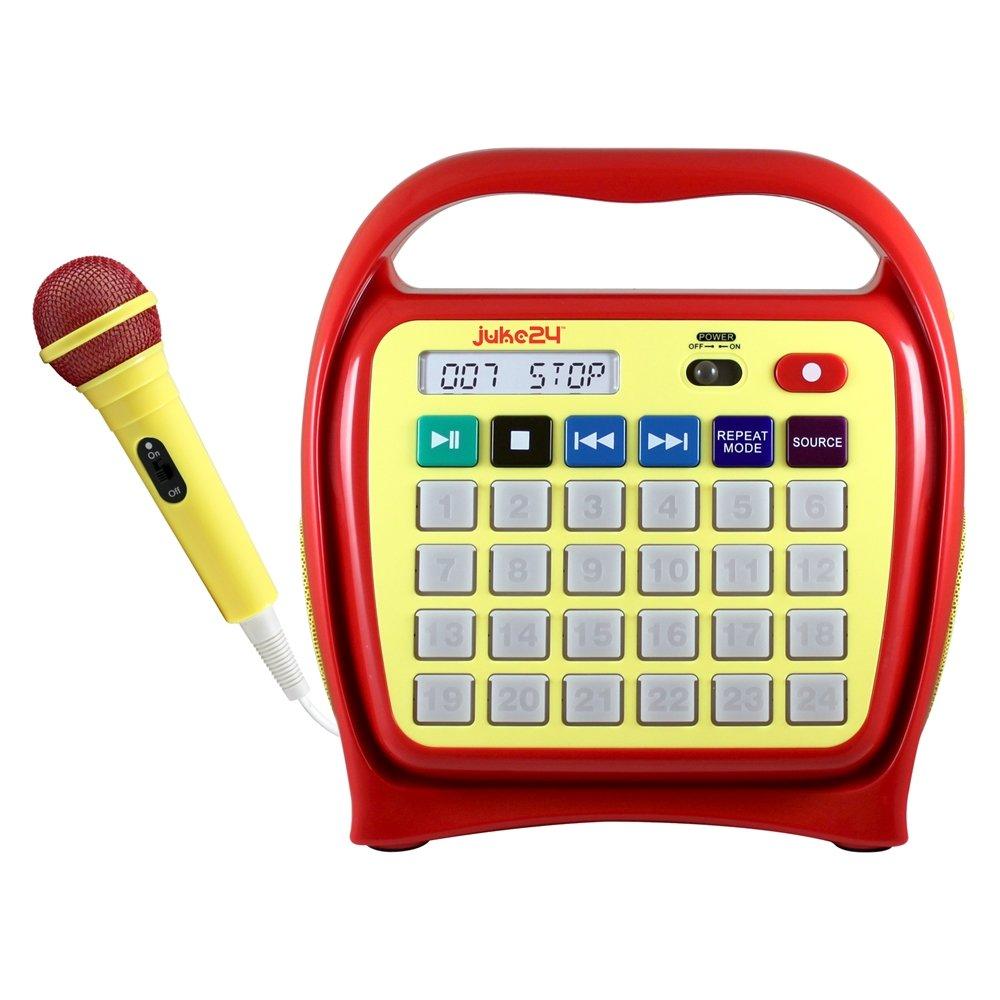Hamilton Buhl Juke24 - Portable, Digital Jukebox with CD Player and Karaoke Function - Red/Yellow